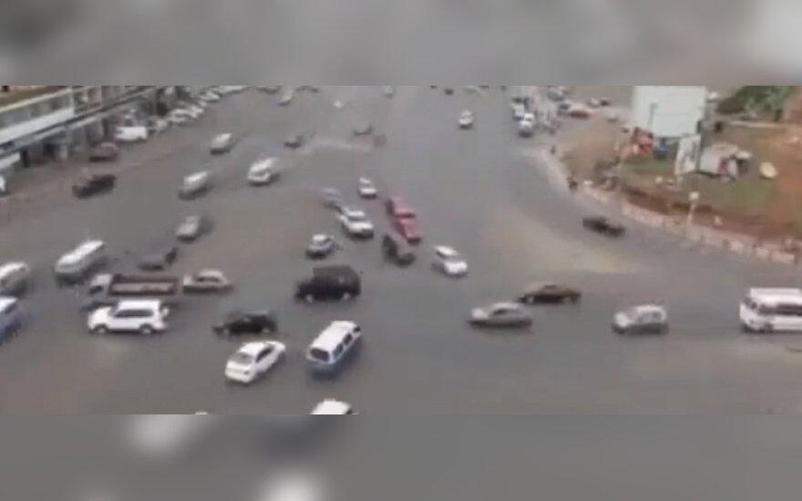 Skrzyżowanie w Addis Ababie