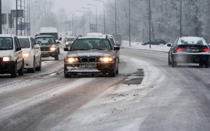 В Литве на дорогах гололед, мороз до -10 градусов