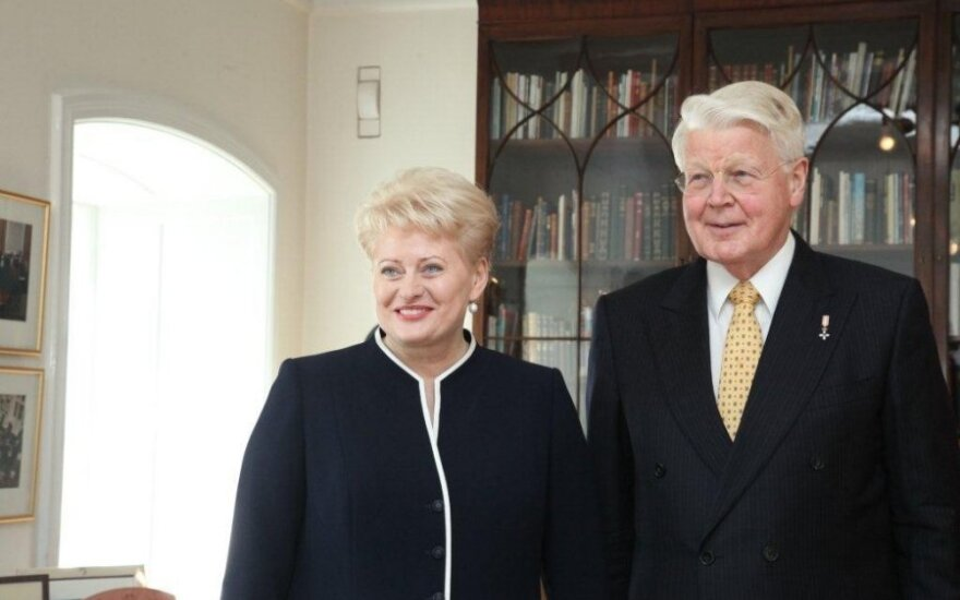 Dalia Grybauskaitė ir Olafuras Ragnaras Grimssonas