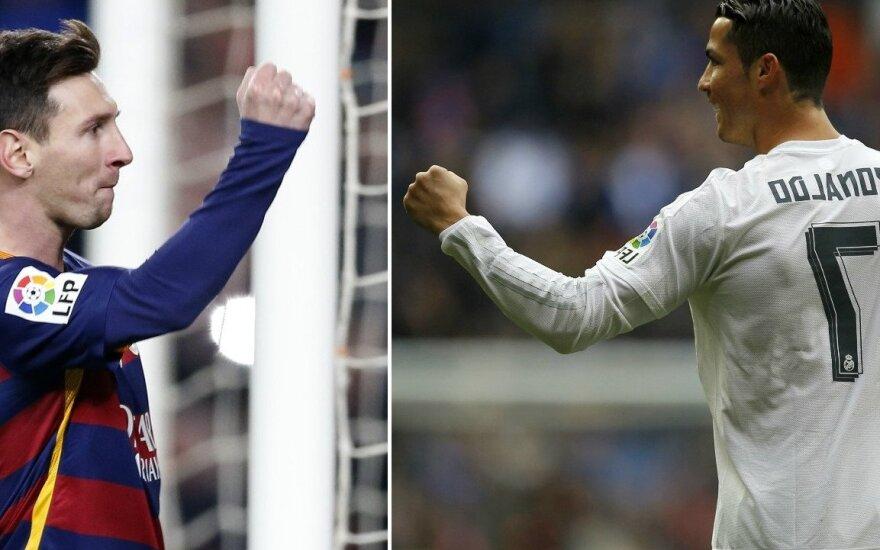 L. Messi ir C. Ronaldo