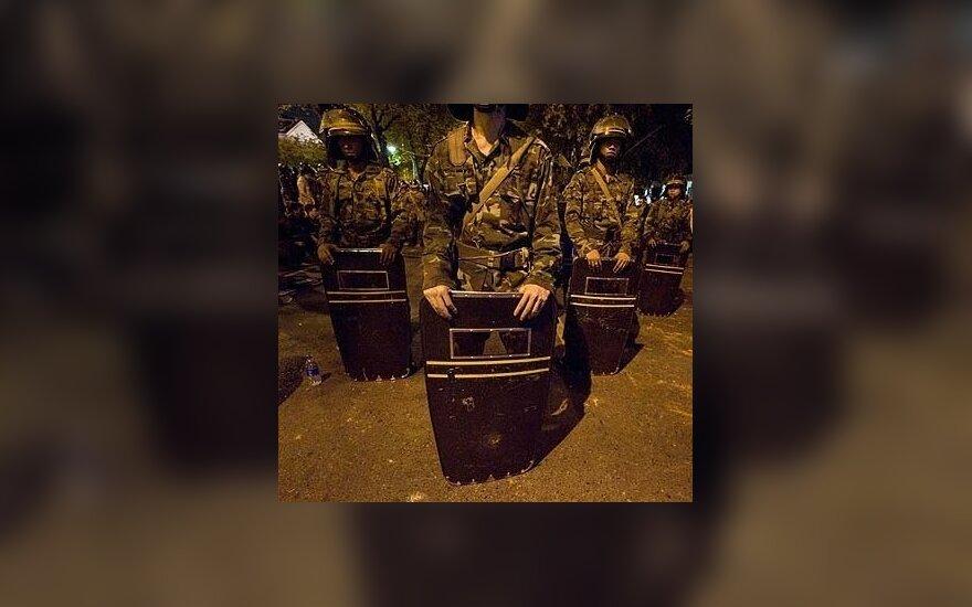 Tailando policininkai šalies sostinėje Bangkoke