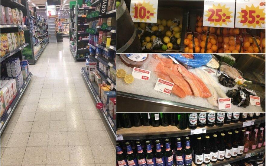 Maisto prekių kainos Švedijoje