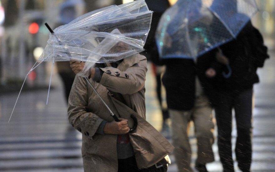Japonijoje siautė uraganinis vėjas