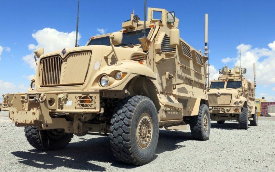 Из Афганистана в Литву вывозится военная техника