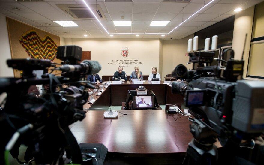 Vyriausiosios rinkimų komisijos spaudos konferencija