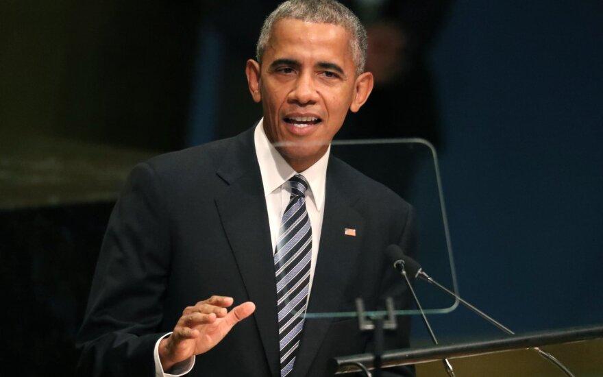 Barackas Obama sako kalbą JT