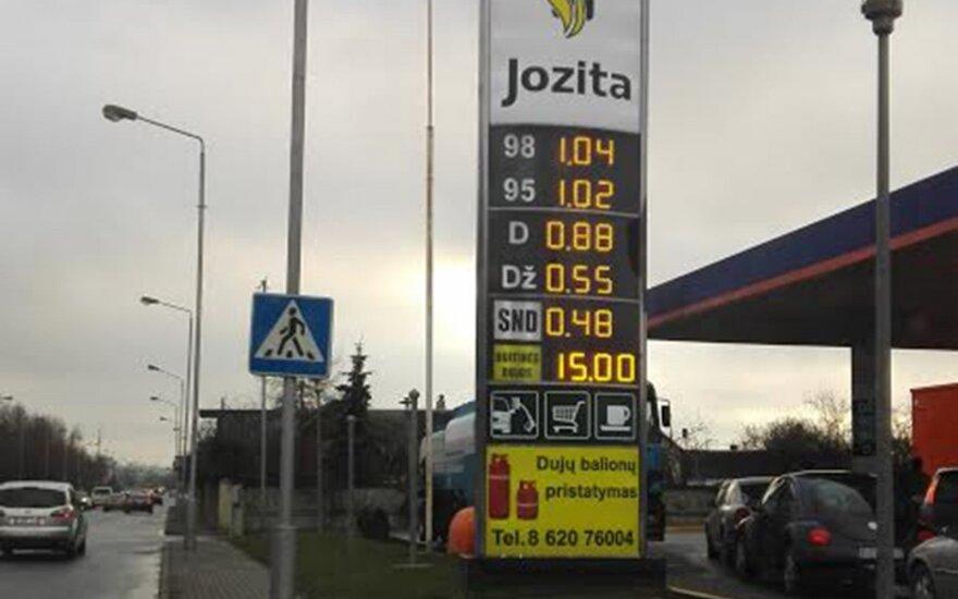 В Каунасе из-за АЗС образуются заторы