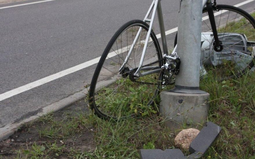 В Вильнюсе пострадал велосипедист, он попал в больницу
