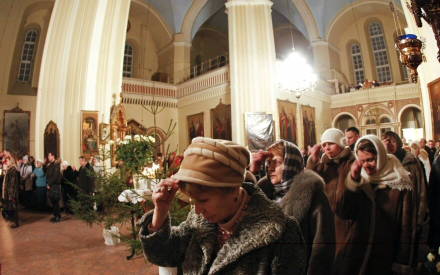 Православные верующие и старообрядцы Литвы празднуют Рождество Христово