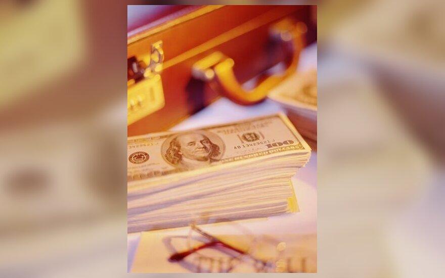 Pinigai, doleris, lagaminas, bankas, verslas, sėkmė, progresas