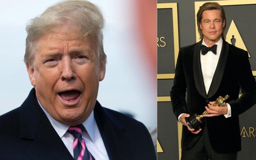 Donaldas Trumpas, Bradas Pittas