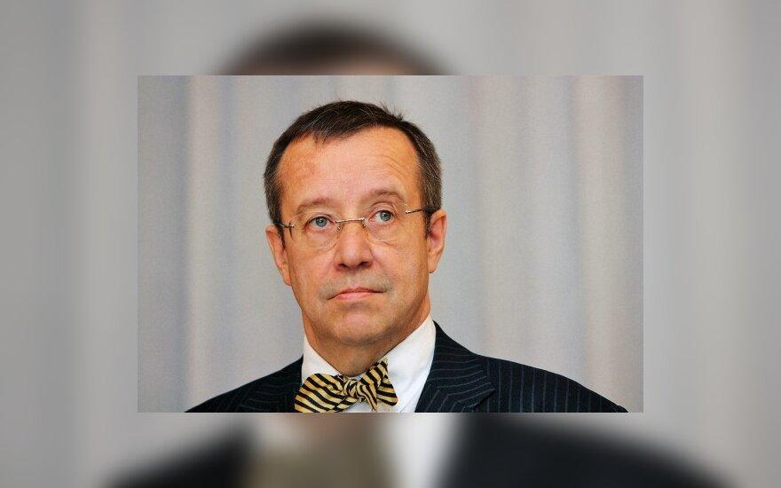 В Вильнюсе ночевал президент Эстонии
