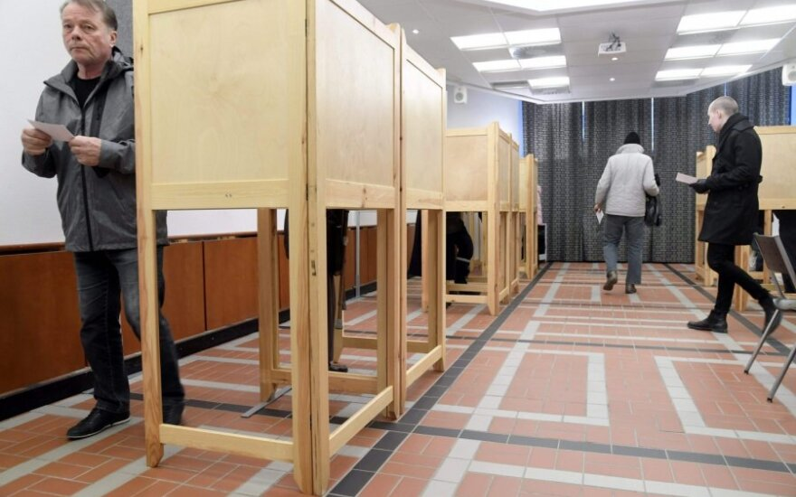 Suomijoje vyksta parlamento rinkimai