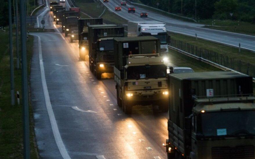Впечатляющая техника НАТО – уже в Каунасе