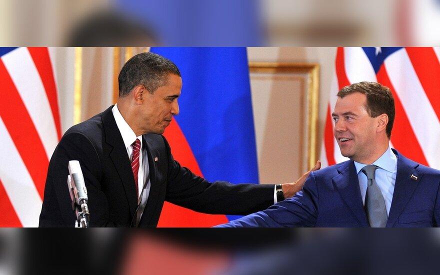Barackas Obama ir Dmitrijus Medvedevas