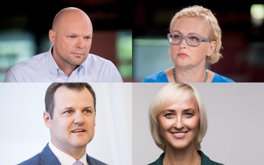Kristupas Krivickas, Rūta Janutienė, Gintautas Paluckas, Paulė Kuzmickienė