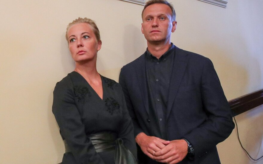 Aleksejus Navalnas su žmona Julija