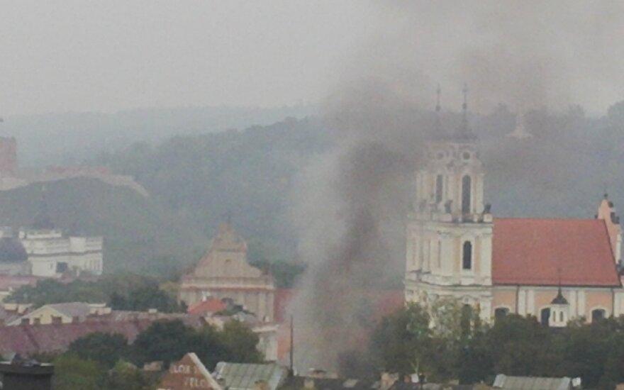 В центре Вильнюса - пожар