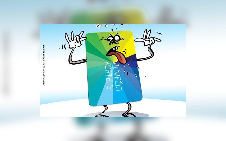 vilniečio kortelė, ebilietas, viešasis transportas
