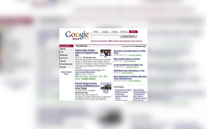 """""""Google"""" naujienos"""