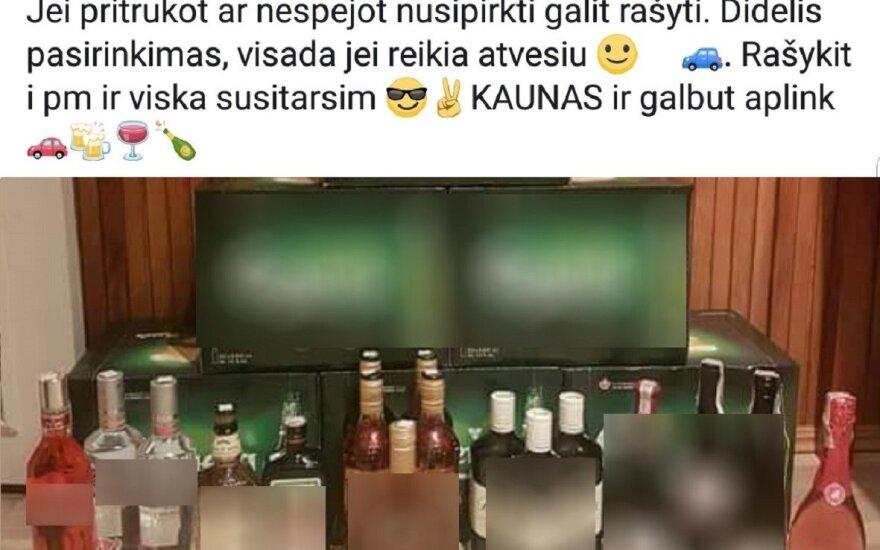 Skelbimas apie nelegalų alkoholį