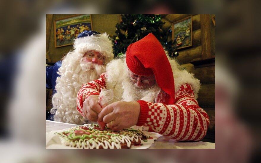 Русский Дед Мороз и норвежский Санта Клаус в Москве