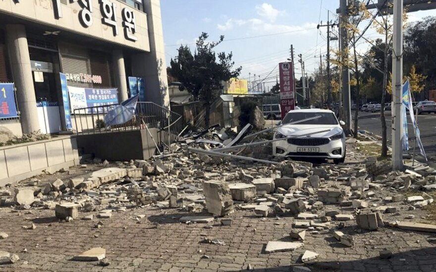 В 160 км от олимпийского Пхенчхана произошло землетрясение
