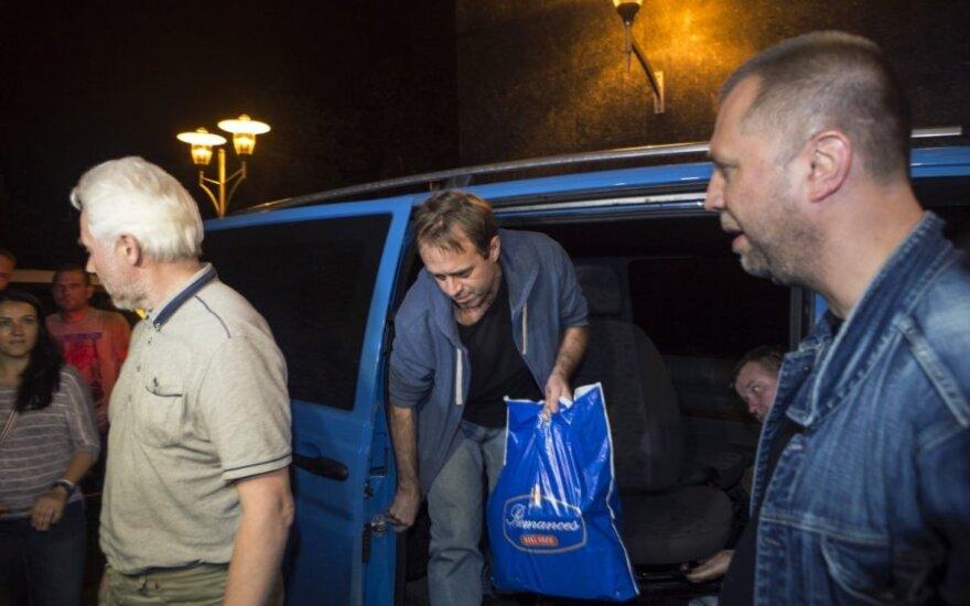 Prorusiški Ukrainos separatistai paleido ESBO stebėtojus