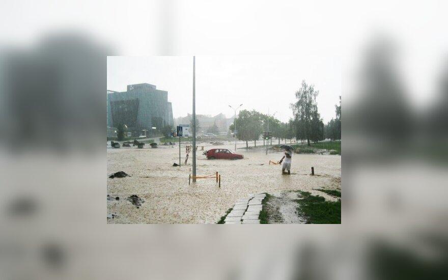 В выходные Алитус снова затопило