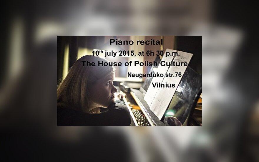 Recital fortepianowy Katarzyny Hushty