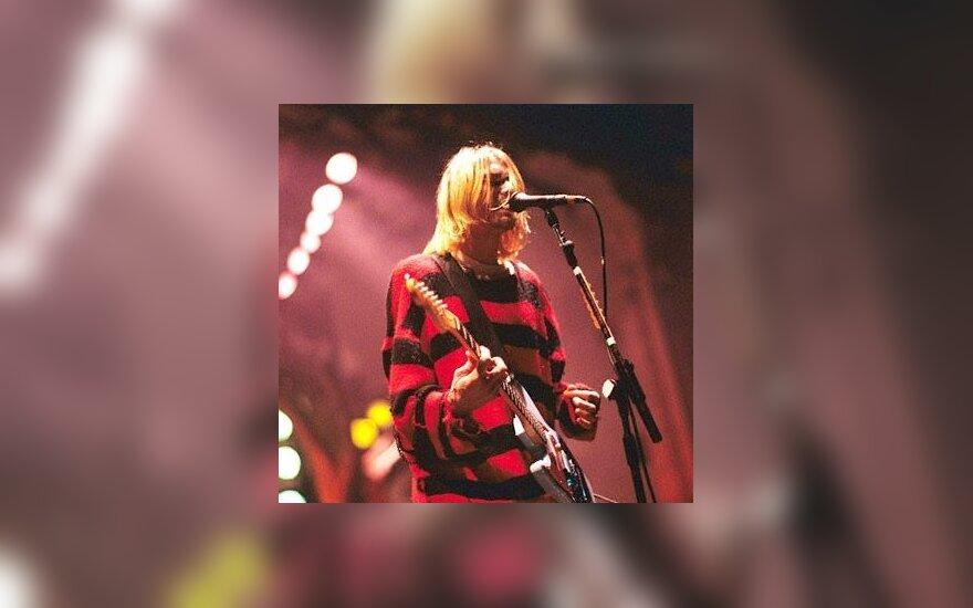 """Kurtas Cobainas (""""Nirvana"""")."""