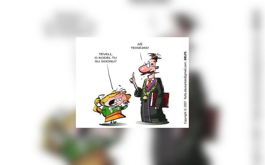 Teisėjas, karikatūra