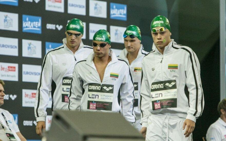 Lietuvos plaukikų ketvertas Europos čempionato finale užėmė septintą vietą