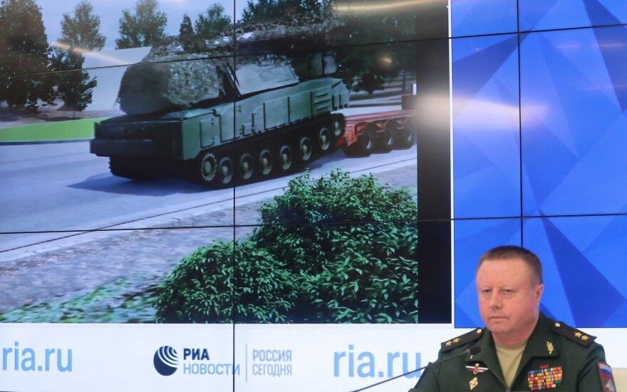 Rusijos gynybos ministerijos surengta spaudos konferencija dėl MH17 numušimo