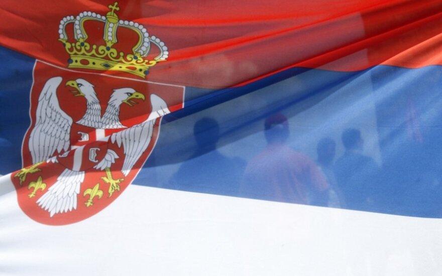 Serbija, Serbijos vėliava