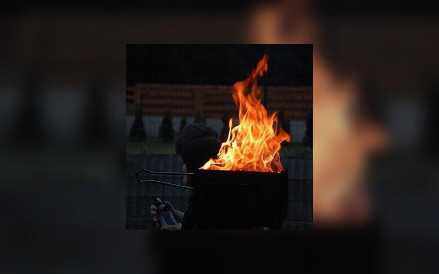 Водитель сгорел заживо в Вильнюсе