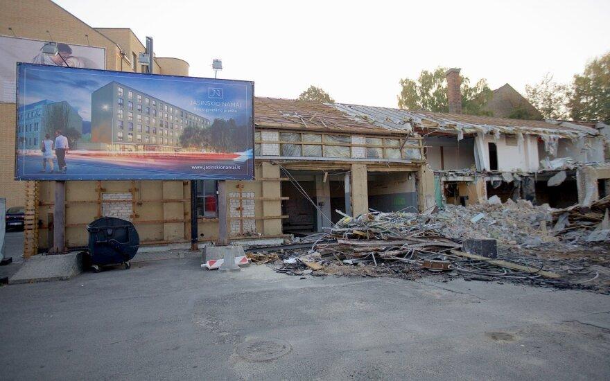 В центре Вильнюса сносят здание – начнется строительство многоквартирного дома
