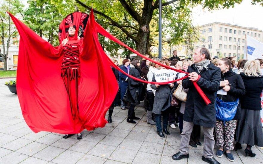 Kultūros ir meno darbuotojų asociacijos ir kultūros darbuotojų profesinių sąjungų mitingas
