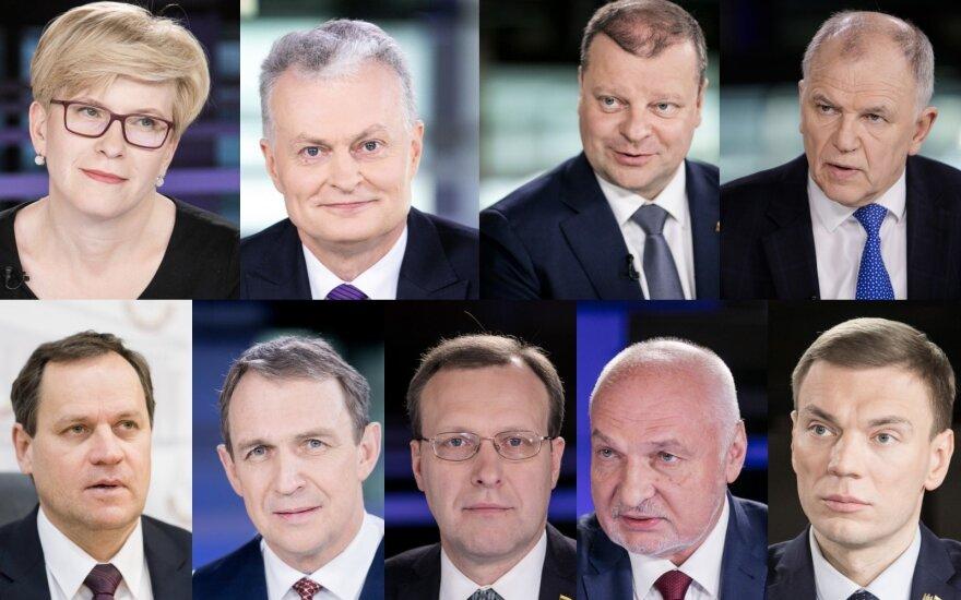 Осталось 9 претендентов в кандидаты на пост президента Литвы