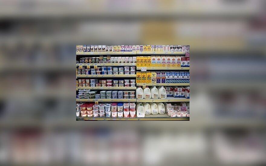 Pienas, pieno produktai, parduotuvė
