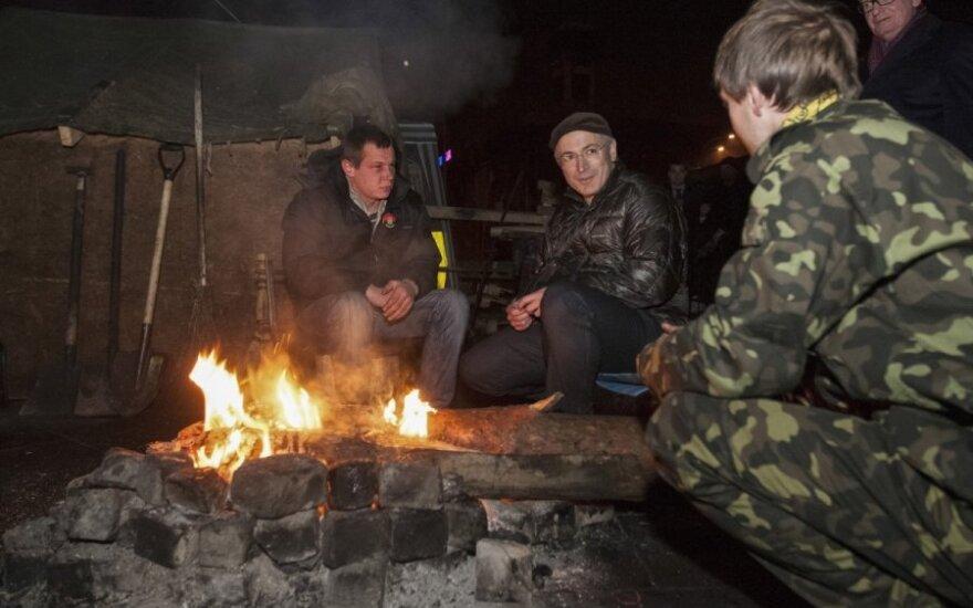 Бывший олигарх Ходорковский посетил Майдан в Киеве