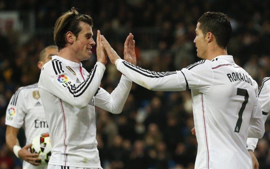 Garethas Bale'as ir Criatiano Ronaldo