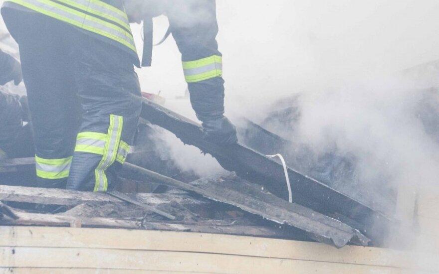 В Вильнюсе в пожаре погибли люди