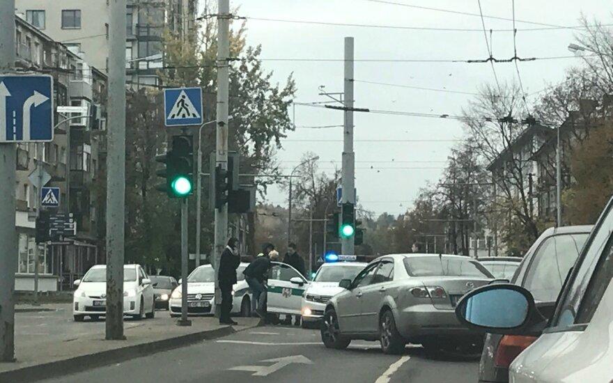 В Вильнюсе столкнулись 4 автомобиля