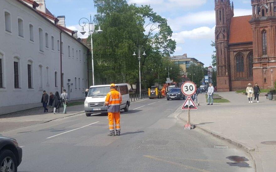 Maironio gatvėje pradėti remonto darbai. Eglės Girdenytės nuotr.