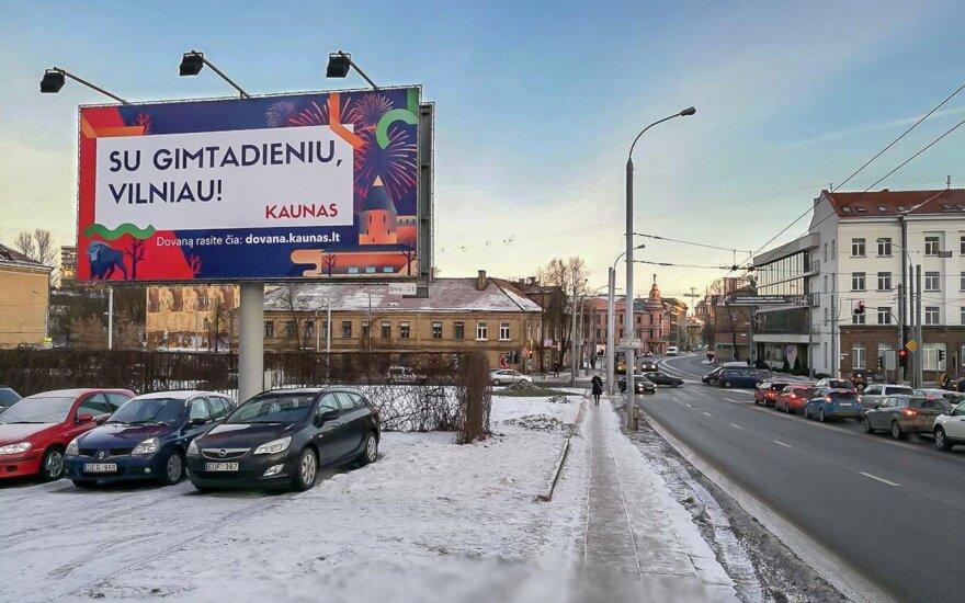 Kaunas sveikina Vilnių gimtadienio proga