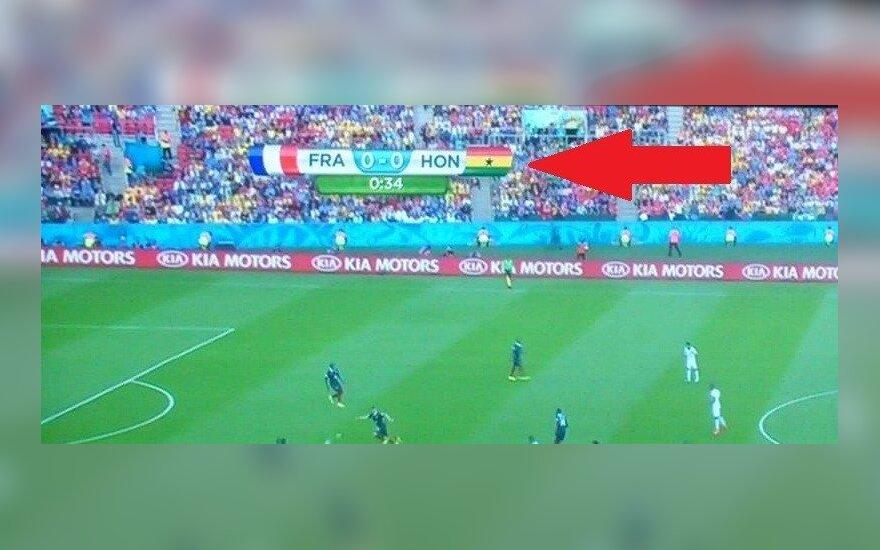 Wpadka z flagą Hondurasu