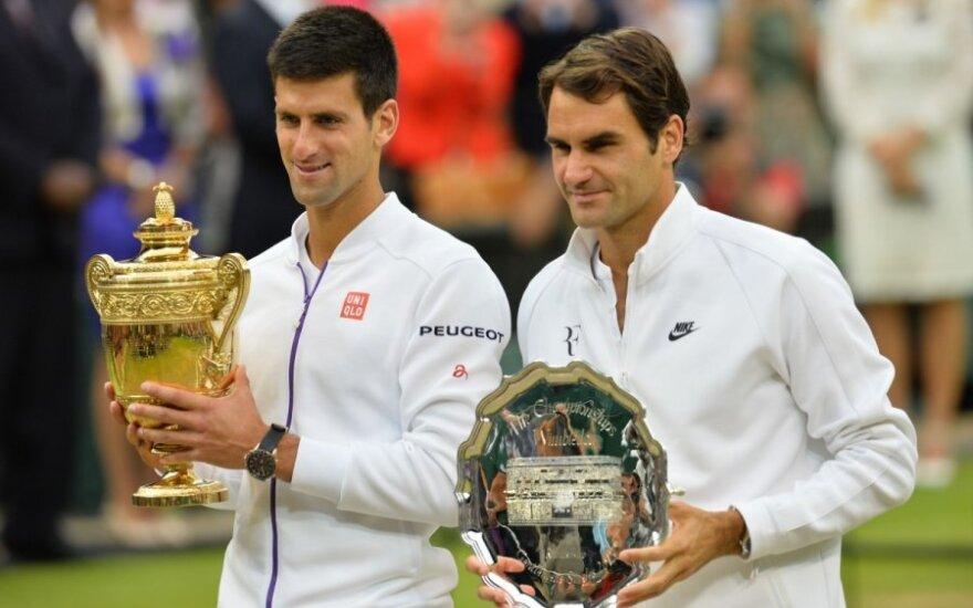 Novakas Djokovičius ir Rogeris Federeris