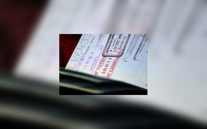 Pasas, asmens dokumentas, vizos, viza
