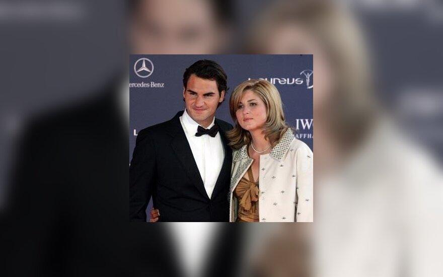 "Roger'is Federeris su drauge Miroslava Vavrinec ""Laureus"" apdovanojimų ceremonijoje"